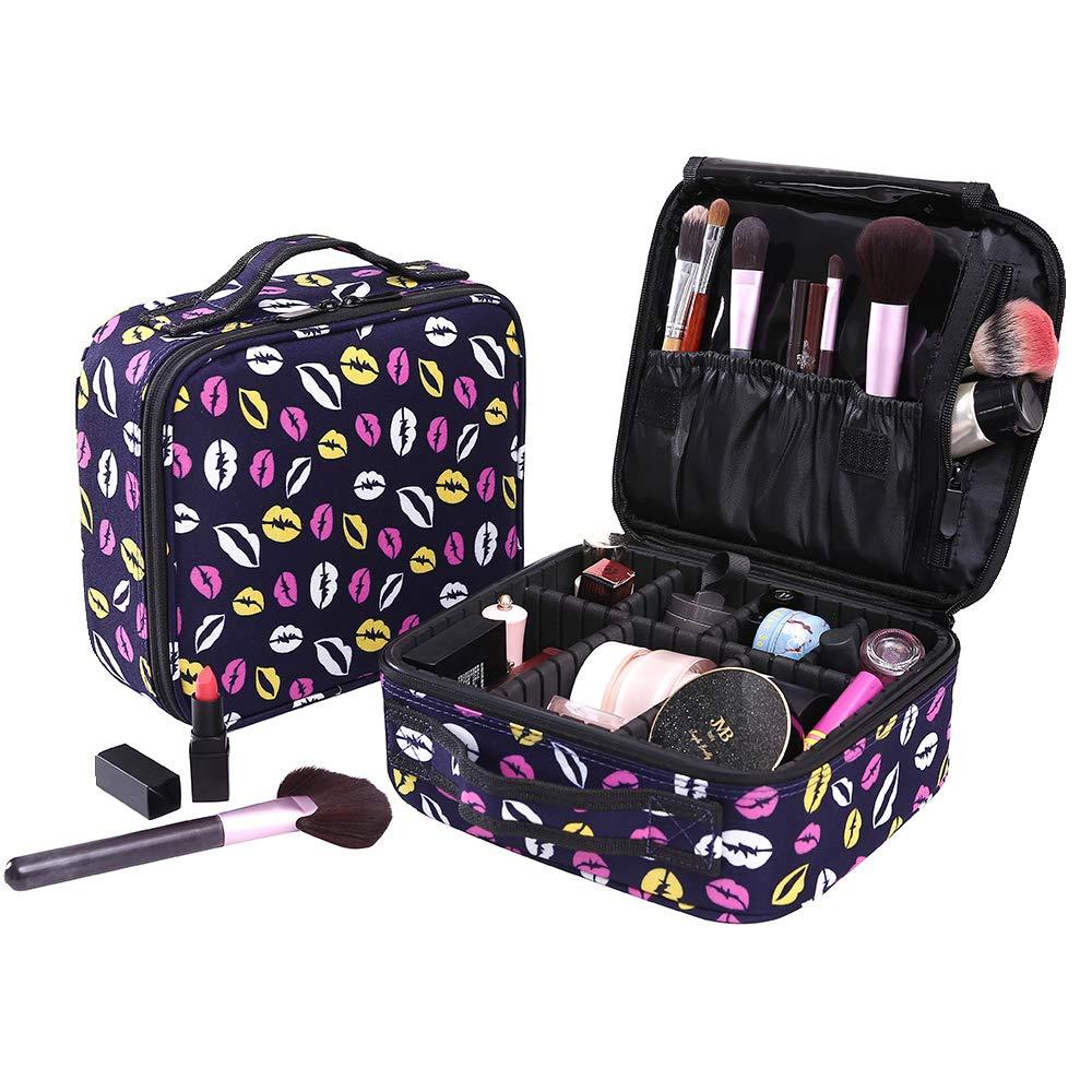 Neceser Maquillaje Impermeable Bolsa de Maquillaje Organizador A Brochas de Maquillaje Estuches Portatil Cosmeticos Bolsa Neceser
