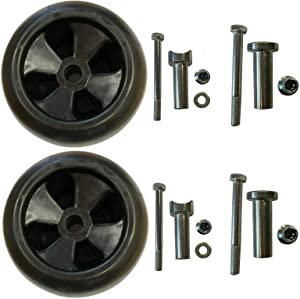 Kumar Bros USA Two(2) Deck Wheels & Hardware Compatible with JohnDeere Replaces AM133602 AM16299 M111489