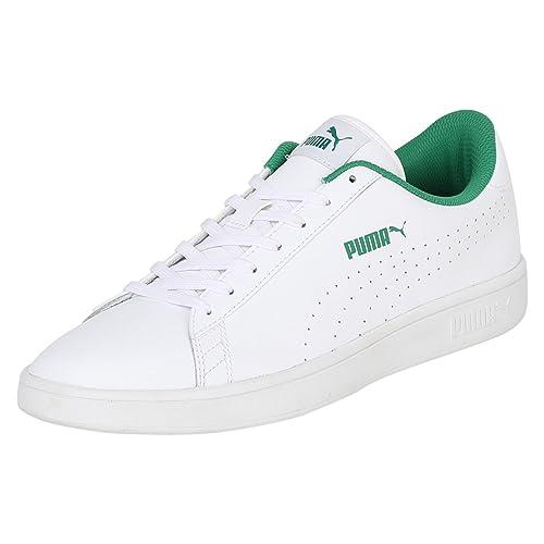 White-Amazon Green Sneakers-11 UK