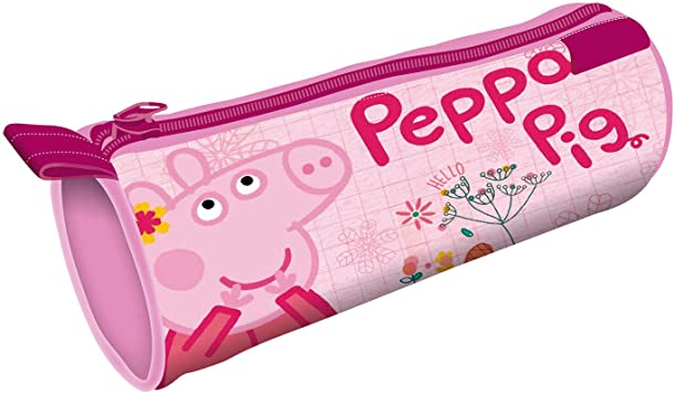 ARDITEX PP12886 Lapicero Portatodo Cilíndrico de 21.5x7.5x7.5cm de EONE-Peppa Pig: Amazon.es: Equipaje