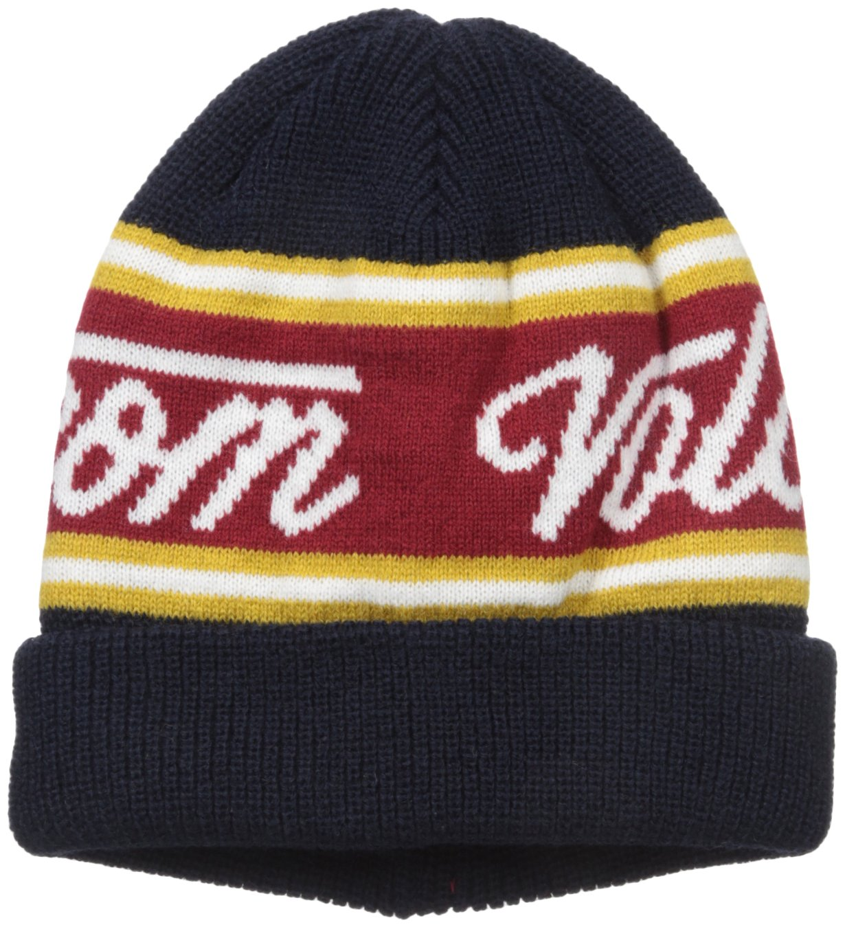 Volcom Big Boys' Fine Sign Youth Beanie, Navy, One Size by Volcom (Image #1)