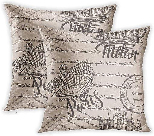 Cuscini Scritte.Ruthxiaoliang Fodere Per Cuscini In Tessuto Sbiadito Con Scritte