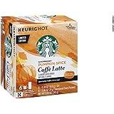 Starbucks Pumpkin Spice Caffe Latte Specialty Coffee K-Cups 6 Count