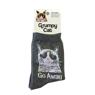 K. Bell Grumpy Cat Kid's Go Away Crew Socks - GCKF15H001-01
