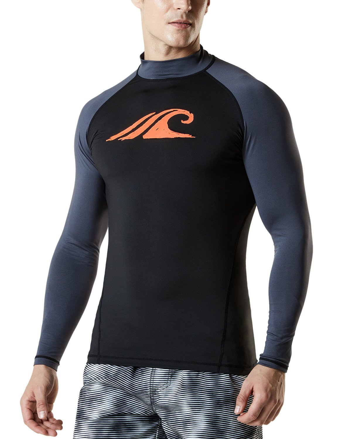 Tesla Men's UPF 50+ Long Sleeve Rashguard MSR Series Tesla Gears TM-MSR12
