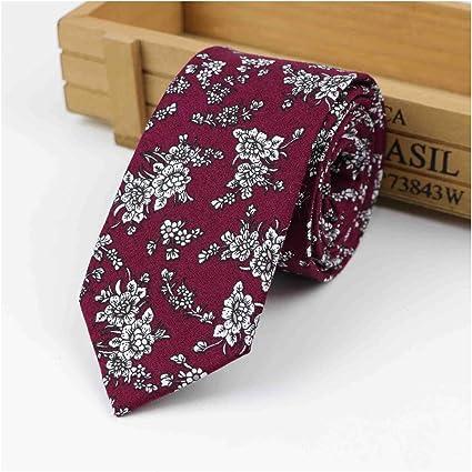 Meaningg-Mnes Tie-Corbata cl¨¢sica de flores de algod¨®n ...
