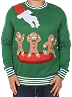 Ugly Christmas Sweater - Gingerbread Nightmare Sweater (Green) by Tipsy Elves