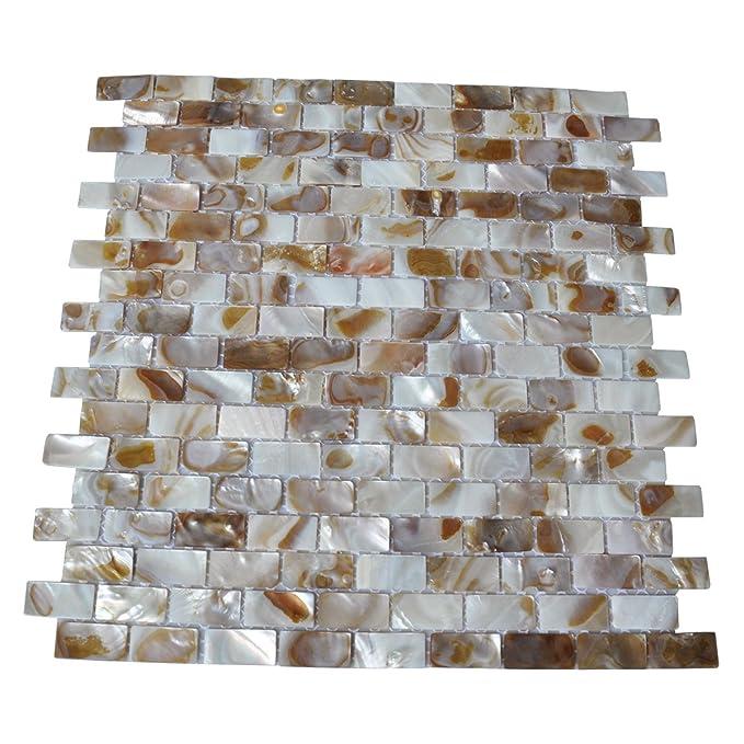 Amazon.com: Art3d - Mosaico de pared de madreperla para ...