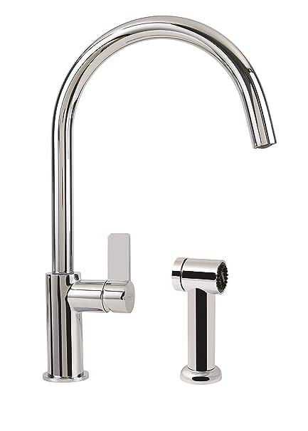 Franke Kitchen Faucets   Franke Ffs3100 Kitchen Faucet With Side Spray Medium Chrome