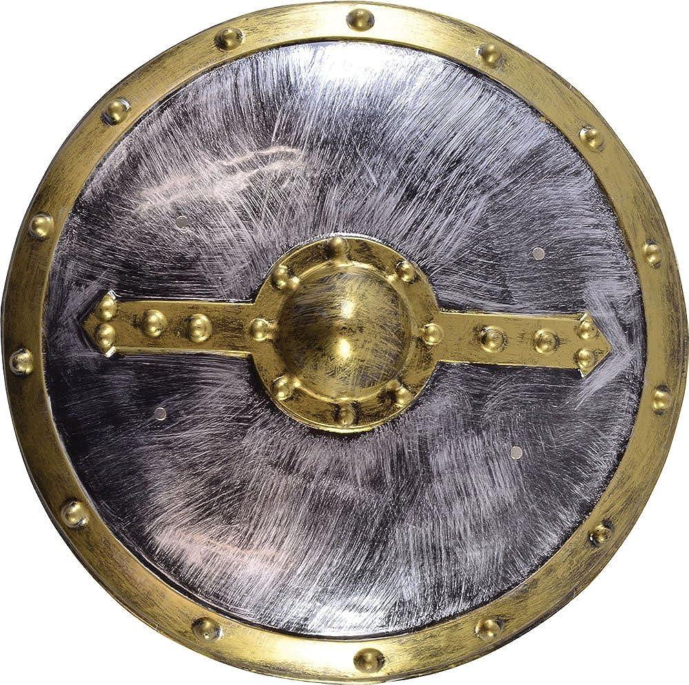 Homme Roman Viking Spartan Grècque Costume Déguisement PVC Bouclier déguisement 48cm - Rond, 48cm Only Sportsgear