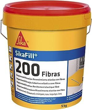 Sika 162605 Pintura elástica para impermeabilización, Teja, 5kg
