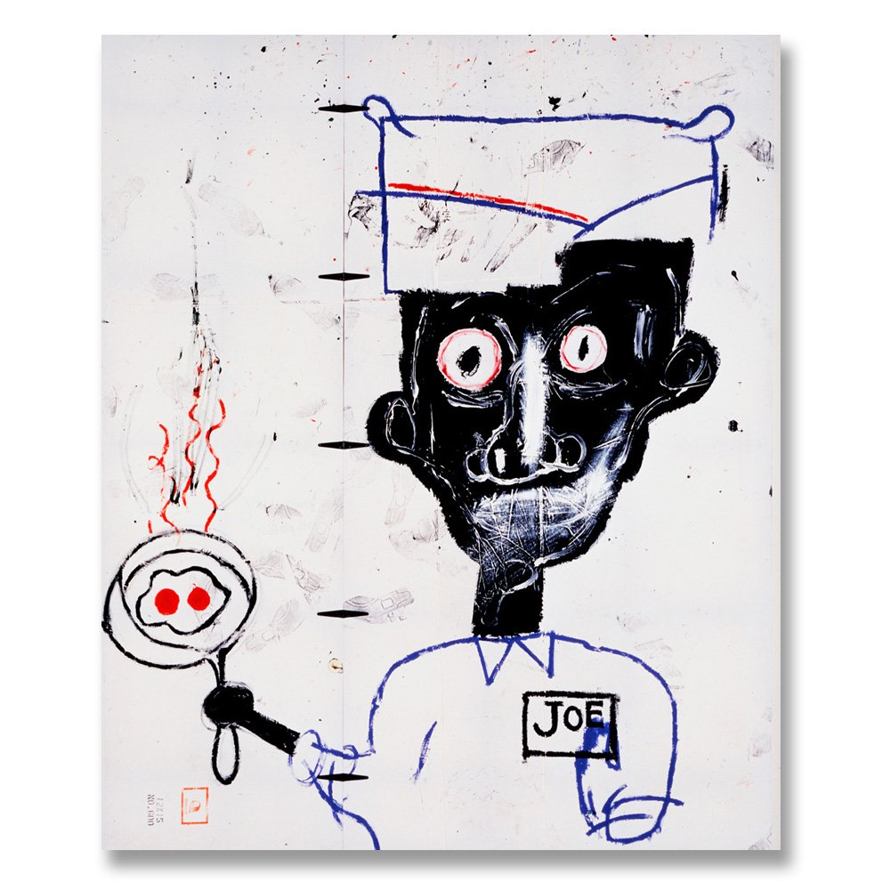 Jean-Michel Basquiat Original Graffiti Art Eyes And Eggs 1983 Canvas Paintings Hand Painted Reproduction Unframed Tablet - 40X48 inch (102X122 cm) for Living Room Wall Decor To DIY Frame