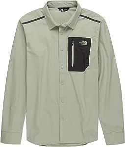 The North Face Men's Alpenbro Long Sleeve Woven Shirt Granite Bluff Tan - L