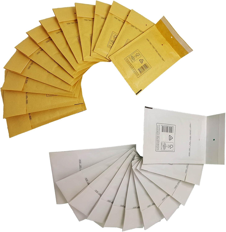 Luftpolsterumschl/äge Luftpolsterversandtaschen 500 Luftpolstertaschen weiss F6 Gr/ö/ße 240x350mm DIN A4