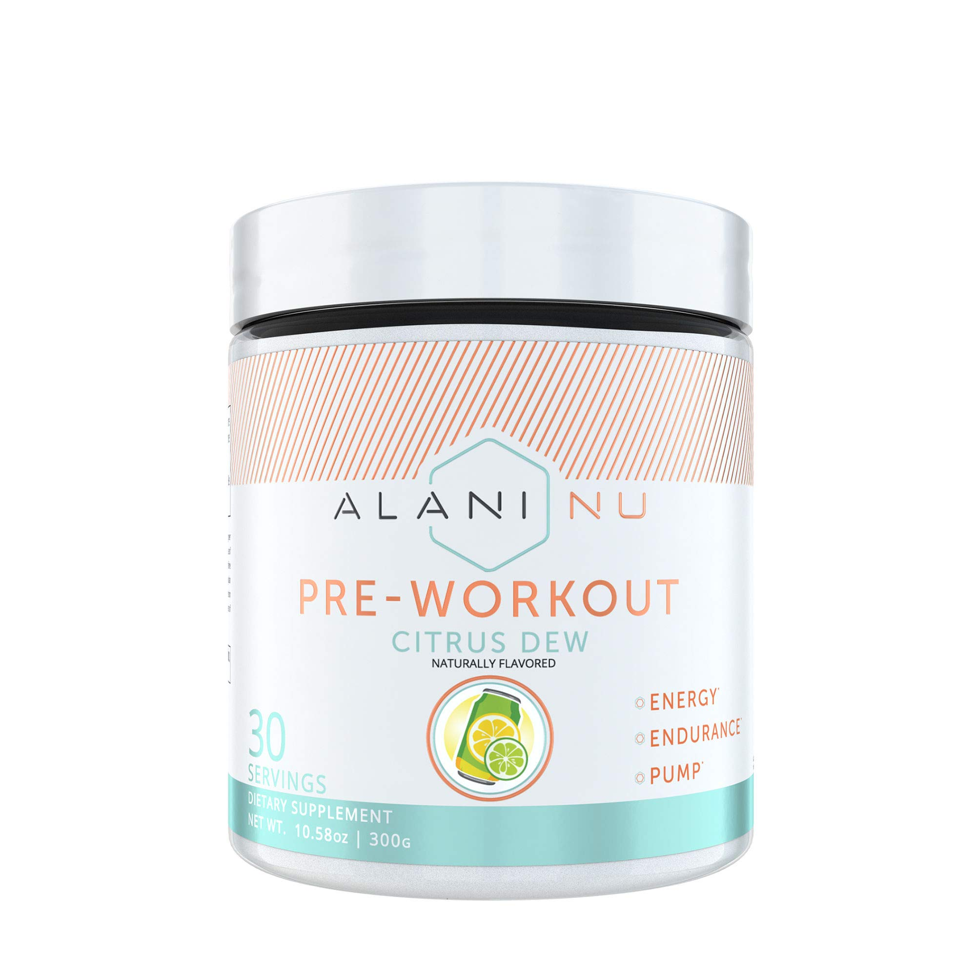 Alani Nu Pre Workout Powder w/Caffeine, L-Theanine & Beta Alanine, Citrus Dew, 30 Servings