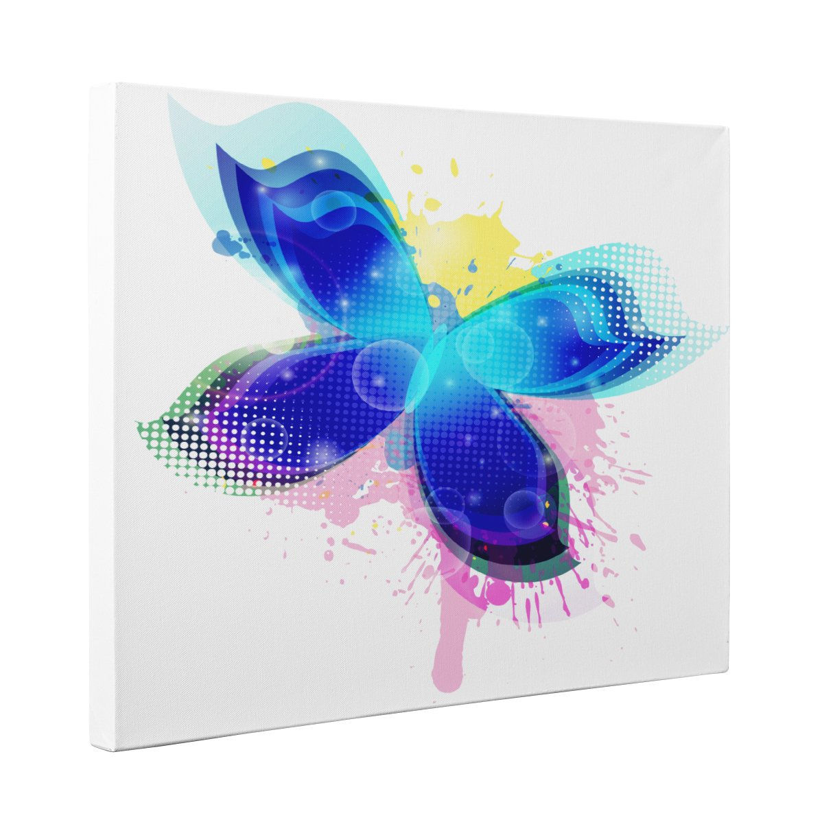 Abstract Butterfly CANVAS Wall Art Home Décor by Paper Blast