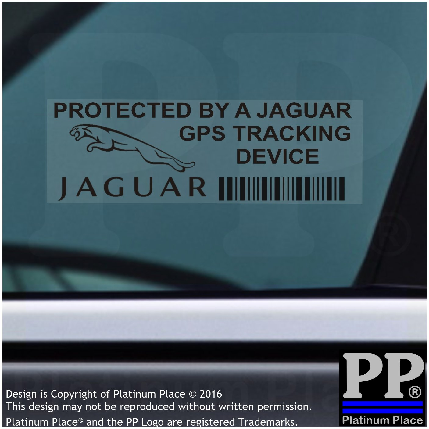 5/x ppjaguargpsblk GPS Schwarz Tracking Ger/ät Sicherheit Fenster Aufkleber 87/x 30/mm-car Van Alarm Tracker