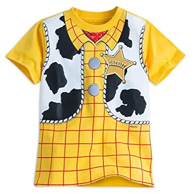 6953da1d Disney Store Toy Story Woody Costume Boy Short Sleeve T Shirt Size 5/6 Sc 1  St Amazon.com