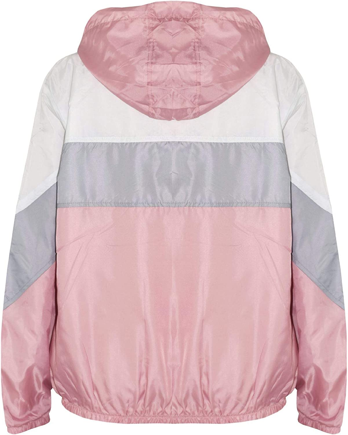 A2Z 4 Kids/® Girls Boys Windbreaker Jackets Kids Baby Pink Light Weight Contrast Panels Waterproof Hooded Cagoule Rain Mac Raincoats Age 5 6 7 8 9 10 11 12 13 Years