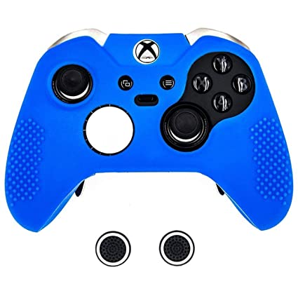 pretty nice 71256 54599 Taifond Anti-Slip Silicone Controller Cover Protective Skins for Microsoft  Xbox One Elite Controller with Two Thumb Grip Caps (Blue)