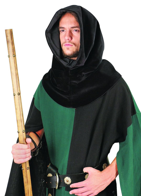 Men's Medieval Black Velvet Cowl Hood - DeluxeAdultCostumes.com