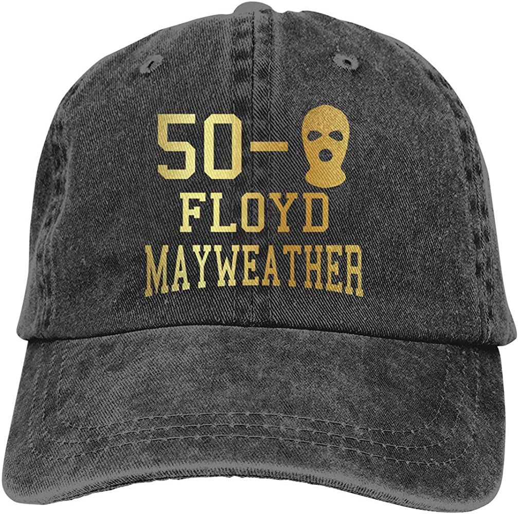 Men & Womens Classic Cap Adjustable with 50-0 Floyd Mayweather ...