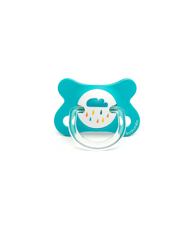 Suavinex 3340073 - Chupete fisiológico látex, 0-4 meses, color Azul
