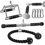 DYNASQUARE Combo Tricep Press Down Cable Attachment, LAT Pulldown Workout, Weight Machine Home Gym Accessories, Double D Hand