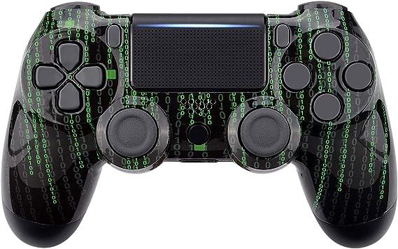 eXtremeRate Coque Avant(Code de Matrice),Housse Boîtier de Remplacement pour Playstation 4 PS4 Slim PS4 Pro Manette Contrôleur(CUH-ZCT2 JDM-040 JDM-050 JDM-055)
