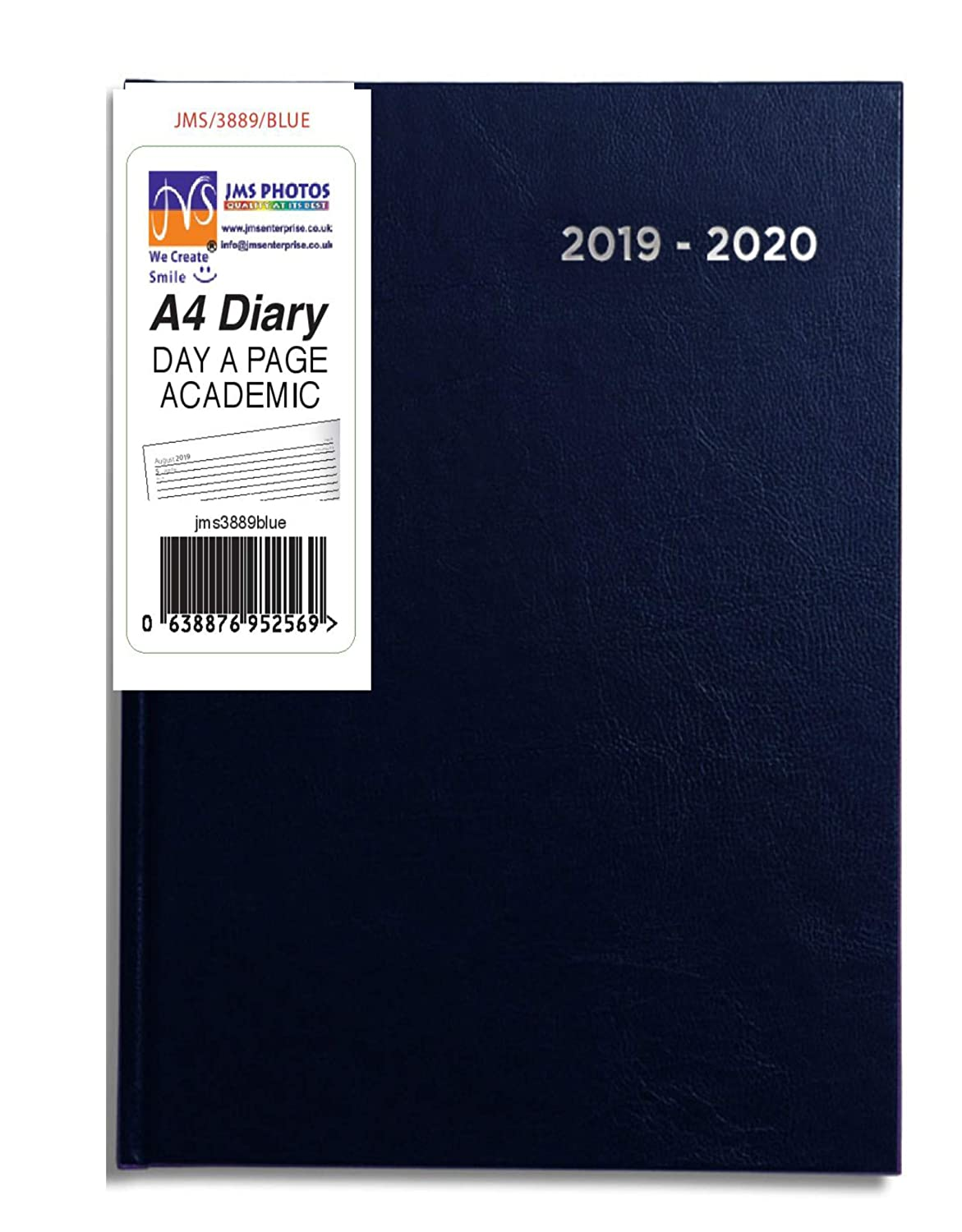 JMS® 2019-2020 A4 Size Day A Page Mid Year Academic Hardback Diary Notebooks, Writing Pads & Diaries Purple