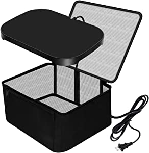 Portable Food Warmer 110V Portable Oven Heated Lunch Box for Reheating Leftovers and Cooking Raw Food, Personal Microwave Oven Slow Cooker Tote for Home Kitchen/Office/Family Travel by KRIPOL, BLACK