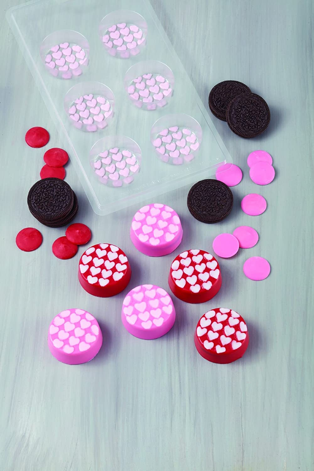 Amazon.com: Wilton 2115-0142 Mini Hearts Cookie Candy Mold: Kitchen & Dining
