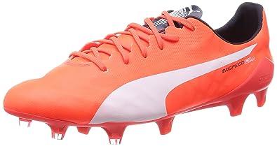05d91566d14f Puma Men's Evospeed SL FG Lava Blast, White and Total Eclipse Football Boots  - 9