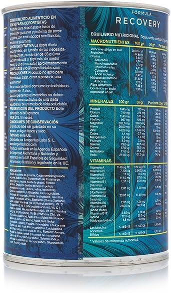 Fórmula Recovery es el complemento nutricional de Longevitas ...