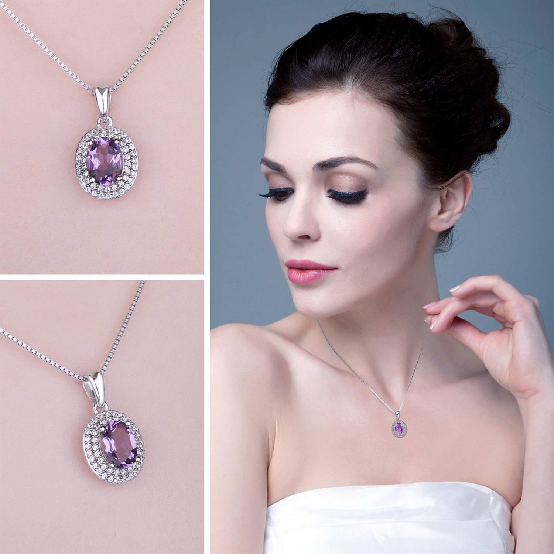 MMC Womens Necklaces Classic 1.8ct Natural Amethyst Bridel Pendants