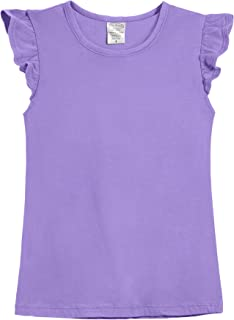 product image for City Threads Girls' All Cotton Short Flutter Sleeve Top Blouse Shirt School, Party