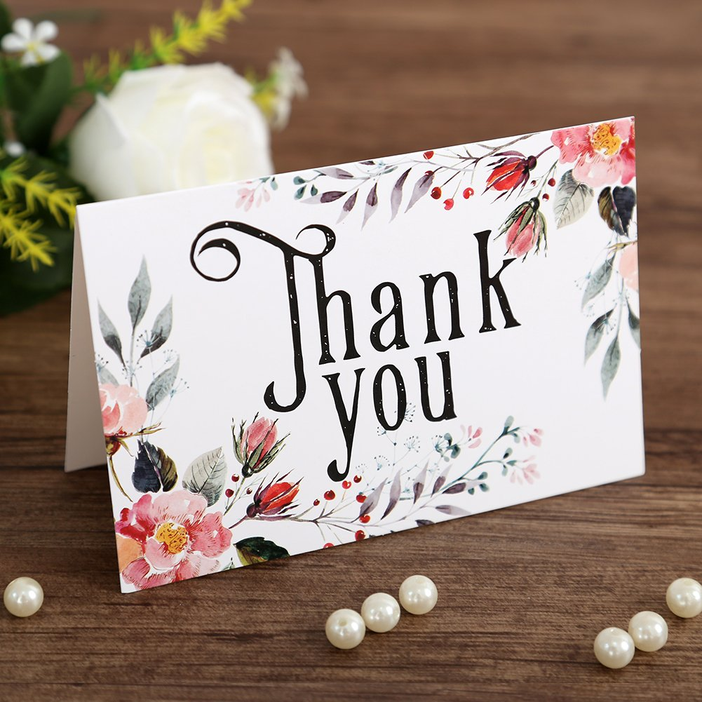 Dream Planner Thank You Cards Floral Flower Greeting Cards Christmas
