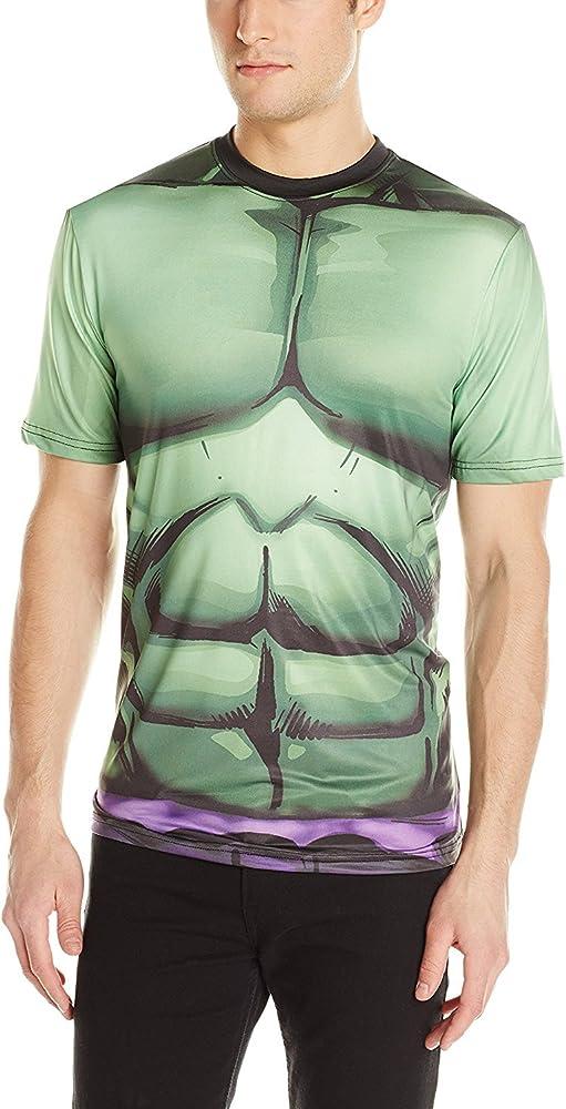 Captain America Civil War Hulk Muscle Boys Tee Shirt Costume Marvel Comics NEW