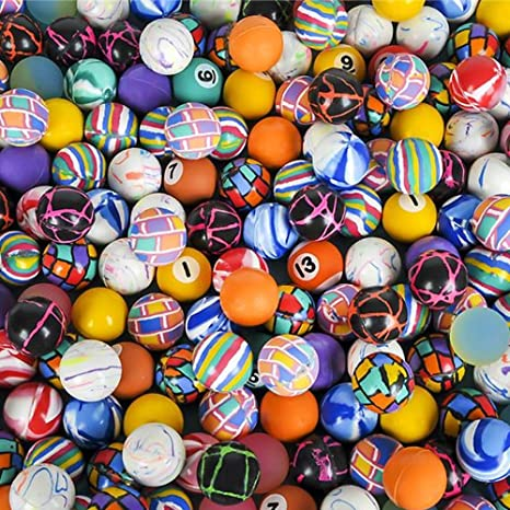 NEW Novelty Assorted Super Bouncy Balls Great Party Favors 250 Count 27mm