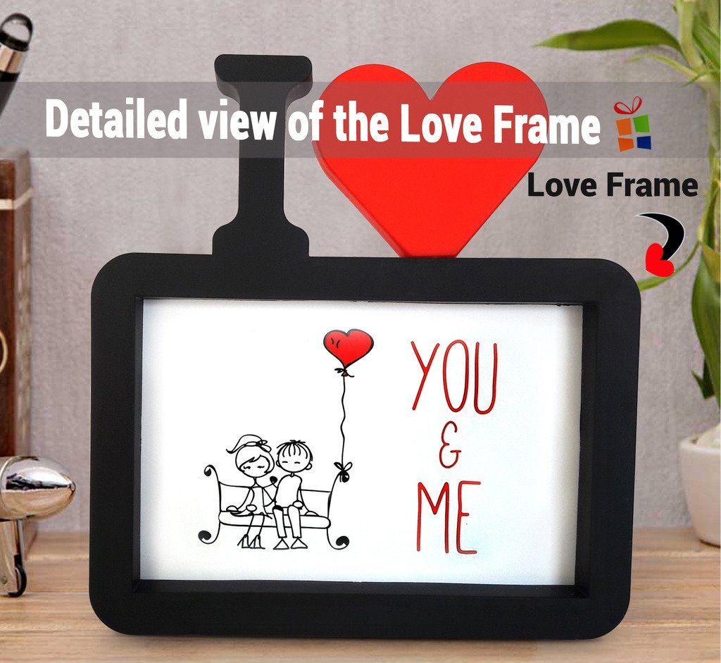 Buy TiedRibbonsR Gift For Husband On His Birthday I Love You Photo FrameImage Replaceable With Coffee Mug325ml And Red Rose Online At Low Prices In