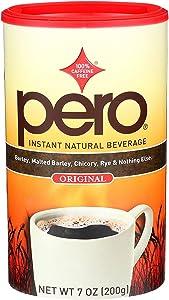 Pero Instant Natural Beverage - Caffeine Free Drink - Coffee like Taste - Case of 6-7 oz.