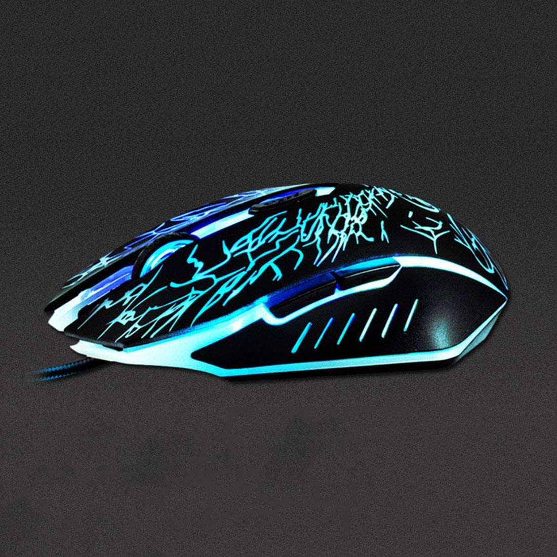 Hexiaoyi Wired Mouse 4 Adjustable DPI Levels 800//1200//1600//2400DPI LED 7 Circular /& Breathing LED Light 6 Buttons Mouse Color : Elegant Black+Exclusive Color Box