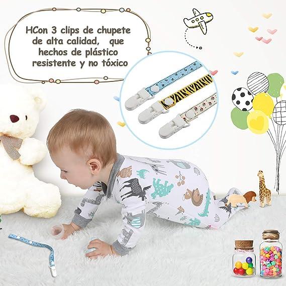 Lictin 6 Piezas Pijama para Bebé- Mameluco de Algodón con Cremallera con Puntos de Pegamento Antideslizantes para Pies, Pintura de Animal
