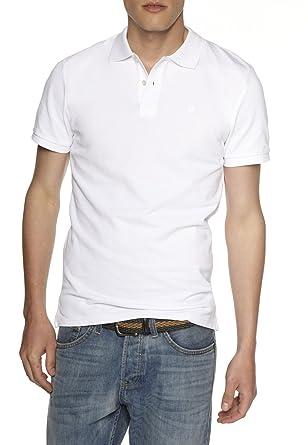 Celio - Polo - Uni - Manches courtes - Homme - Blanc - Small (Taille ... db79b312446