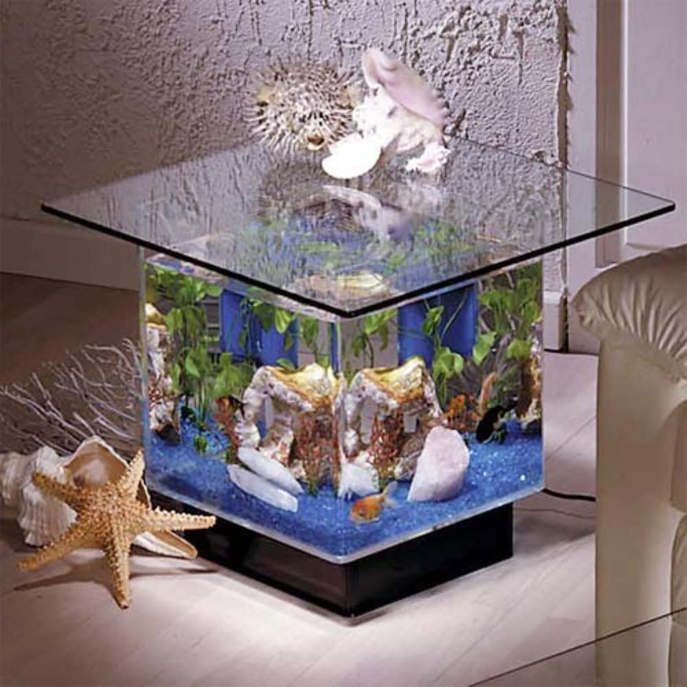 Midwest Tropical Fountain Aqua End Table