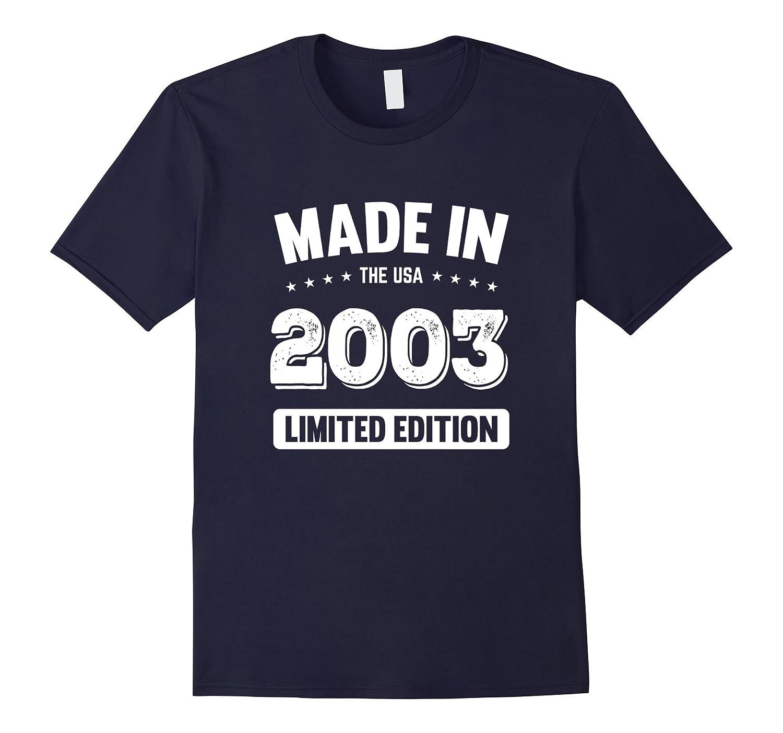 14th Birthday Gift T Shirt - Made In 2003 T-Shirt 2003 Shirt-FL
