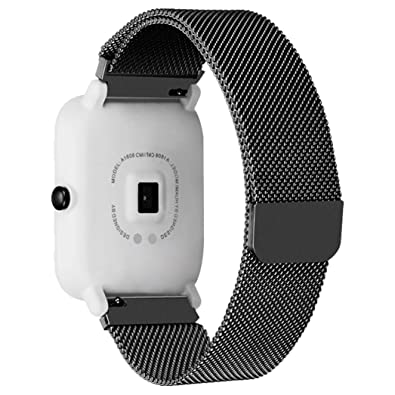Oucan Xiaomi Amazfit Bip Youth Watch GD Stronger Magnetic Bracelet Band with Mental Button, Closure Replacement Strap Wrist Men for Xiaomi Amazfit Bip ...
