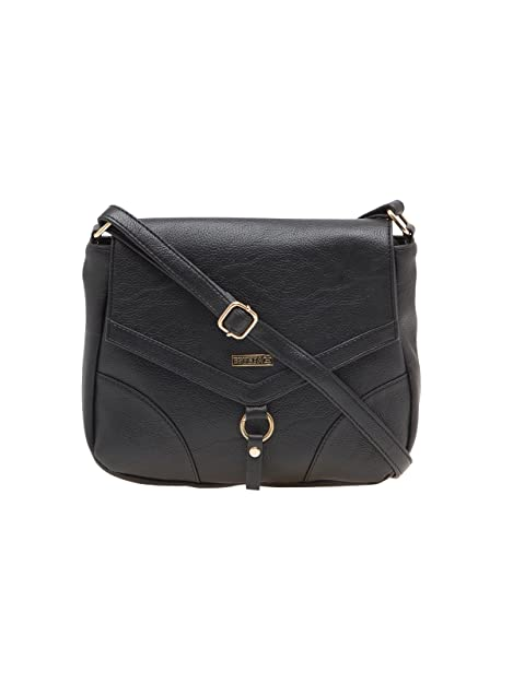 ESBEDA Black Solid Pu Synthetic Material Slingbag For Women  Amazon.in   Shoes   Handbags 50556041b3