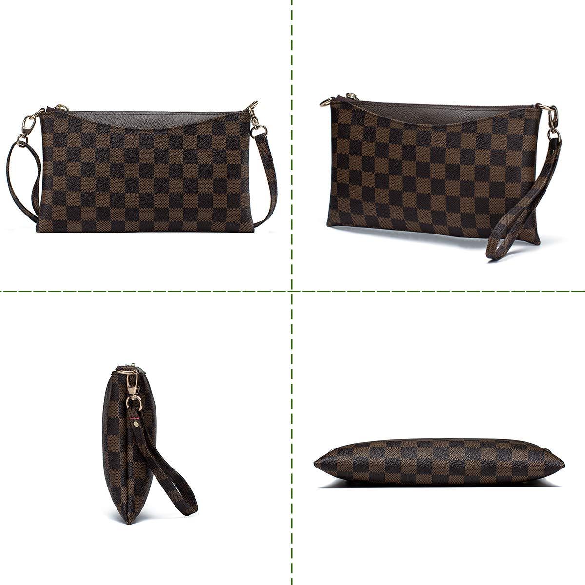 Amazon.com: Bolso bandolera pequeño a cuadros para mujer con ...
