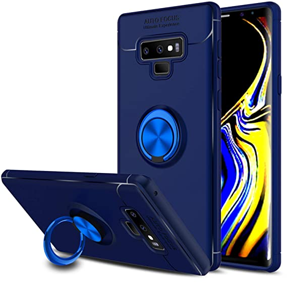 huge discount 1ed62 0e3cb Elegant Choise Compatible with Galaxy Note 9 Case, Hybrid Slim Durable Soft  360 Degree Rotating Ring Holder Kickstand Protective Case with Magnetic ...